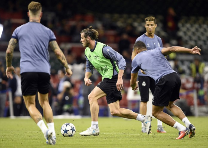 Trening Real Madrida pred finale. (Foto: EPA)