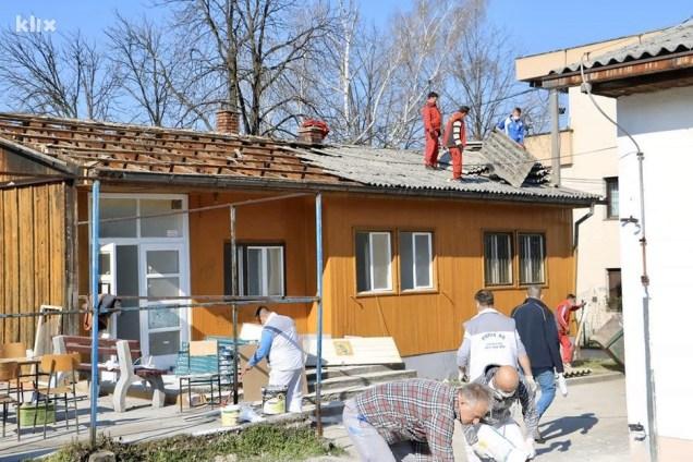 Rekonstrukcija zgrade za izolatorij u Srebreniku (Foto: A. K./Klix.ba)