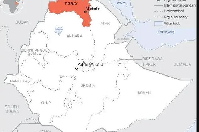Regija Tigraj u kojoj sukobi traju od prošle godine (Foto:Twitter)