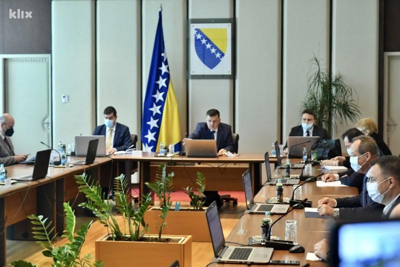 Današnja sjednica Vijeća ministara BiH (Foto: T. S./Klix.ba)