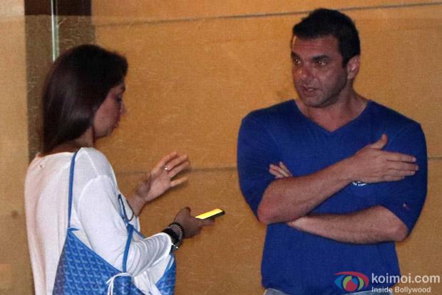 Seema Sachdev Khan and Sohil Khan Arrived For Arpita Khan's Birthday Bash