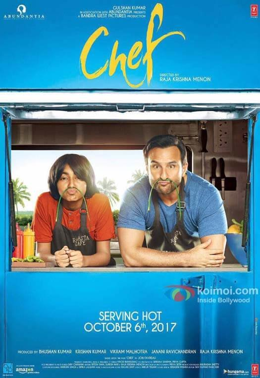 Just In! Check Out The First Cute Poster Of Chef Starring Saif Ali Khan