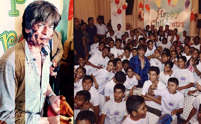 Shah Rukh Khan celebrates Children's Day on the set!