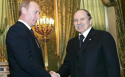 Αποτέλεσμα εικόνας για bouteflika Putin