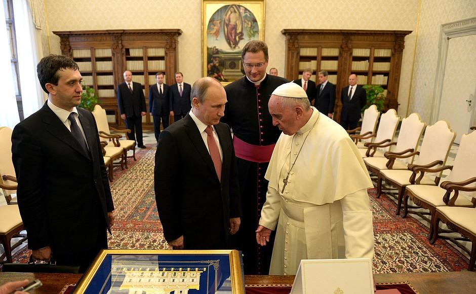Встреча сПапой Римским Франциском.