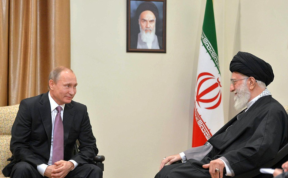 With Supreme Leader of Iran Ali Khamenei.