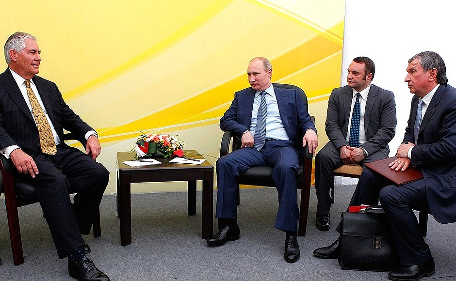 Image result for photo of rex tillerson in russia