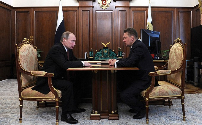 Meeting with Gazprom CEO Alexei Miller