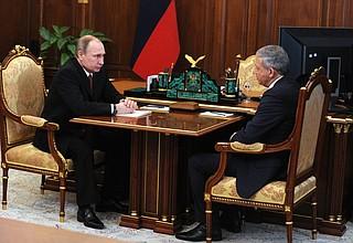Meeting with Prime Minister ofNorth Ossetia-Alania Vyacheslav Bitarov