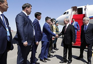 Vladimir Putin arrived in Kazakhstan.