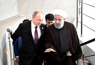 With President ofIran Hassan Rouhani.