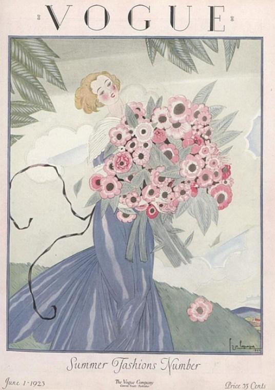 Обложка журнала Vogue, июнь, 1923. Иллюстратор Жорж Лепап (Georges Lepape)