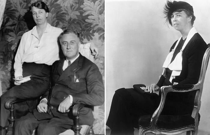 Президент США Франклин Рузвельт с супругой | Фото: afterellen.com и sbs.com.au