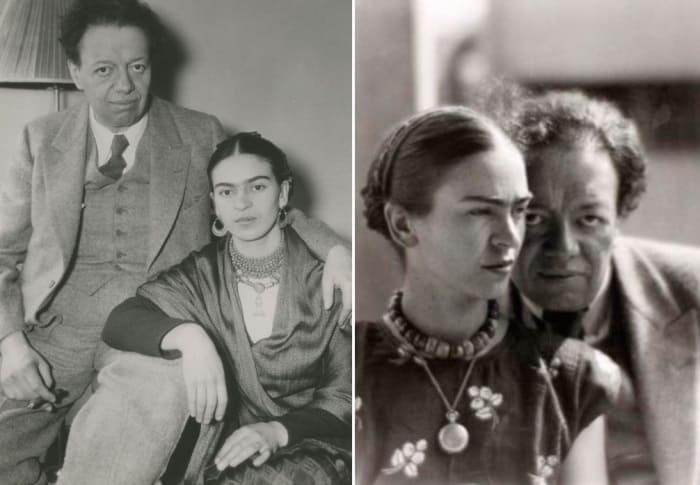 Фрида Кало и ее муж Диего Ривера. | Фото: historytime.ru и aif.ru