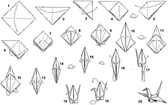В помощь тем, кто хочет научиться делать бумажных журавлей | Фото: webarticles.org.ua
