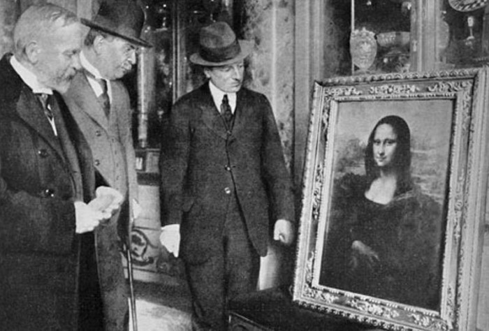 *Мона Лиза* во Флоренции, 1913   Фото: wordpress.com