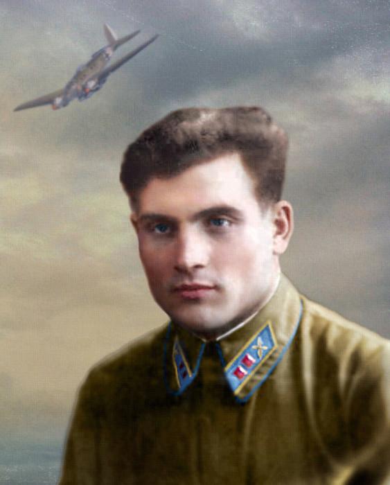 Портрет летчика-истребителя лейтенанта Михаила Девятаева. | Фото: aloban75.livejournal.com.