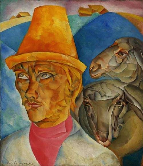 «Пастух в горах» («Клюев-пастырь»). 1920г. Борис Григорьев