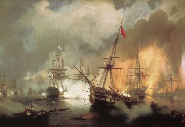 Морское сражение при Наварине 2 октября 1827года. (1846 год.)