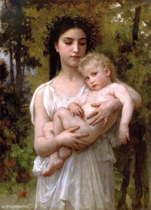 «Младший брат». Автор: William Bouguereau.