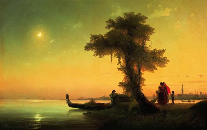 Вид на венецианскую лагуну. 1841 год.