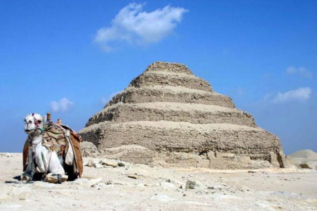 Саккара пирамида Джосера в Египте. /Фото:Charles J Sharp