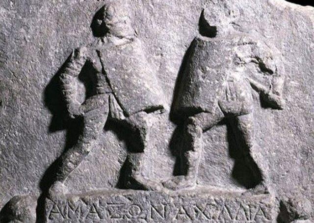 Мармурова табличка, присвячена жінка-гладіаторів.