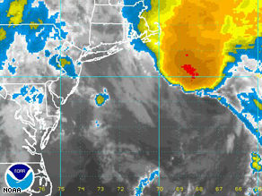 Kyle, which formed Thursday east of the Bahamas, was moving north Sunday morning.