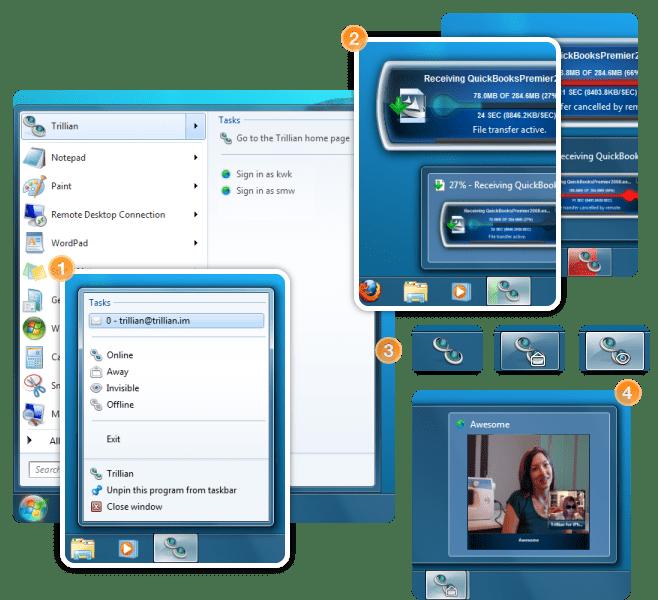 Trillian 4.1 and Windows 7