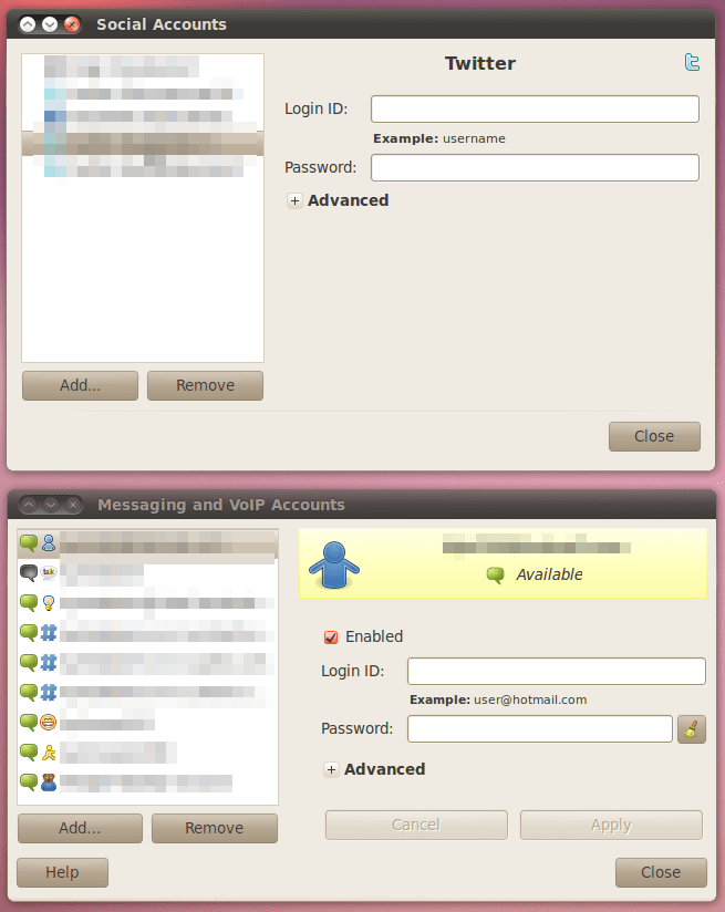Gwibber Account UI Improvements