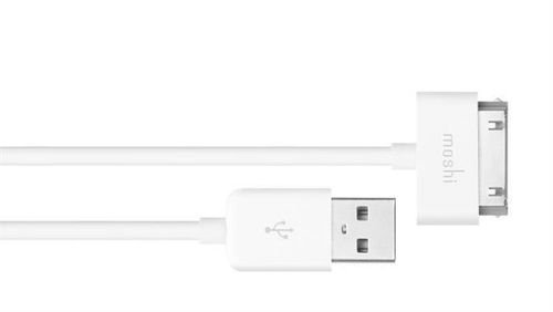 Moshi USB 2.0 to 30-Pin Cable, 1m, White color, 99MO023101