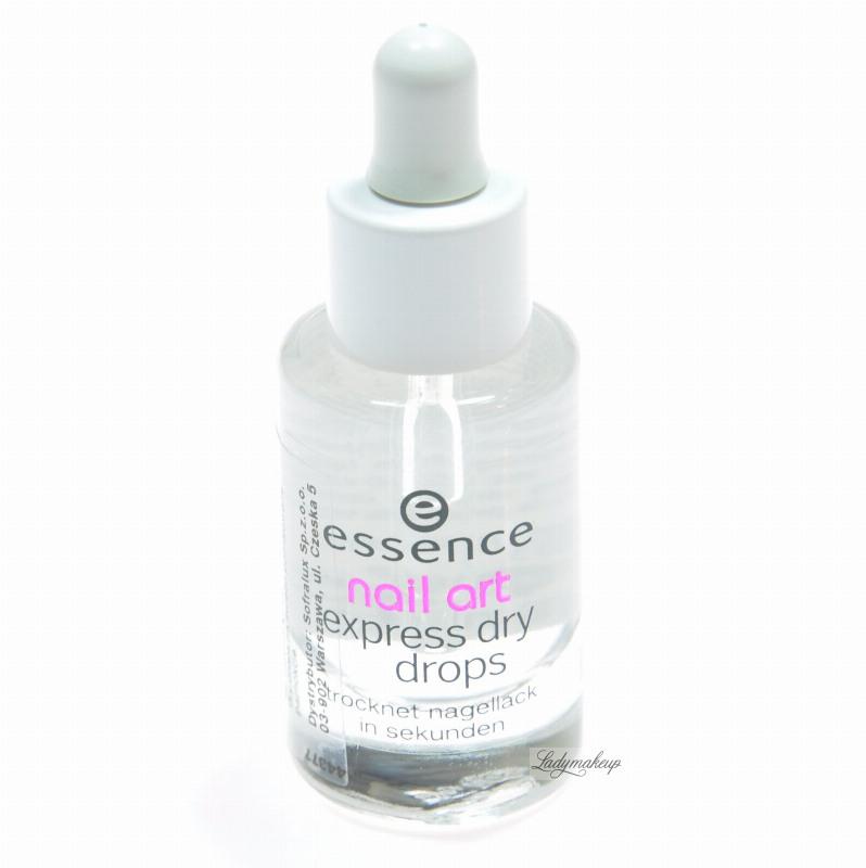 Essence Nail Art Express Dry Drops PŁyn Przyspieszający Wysychanie Lakieru