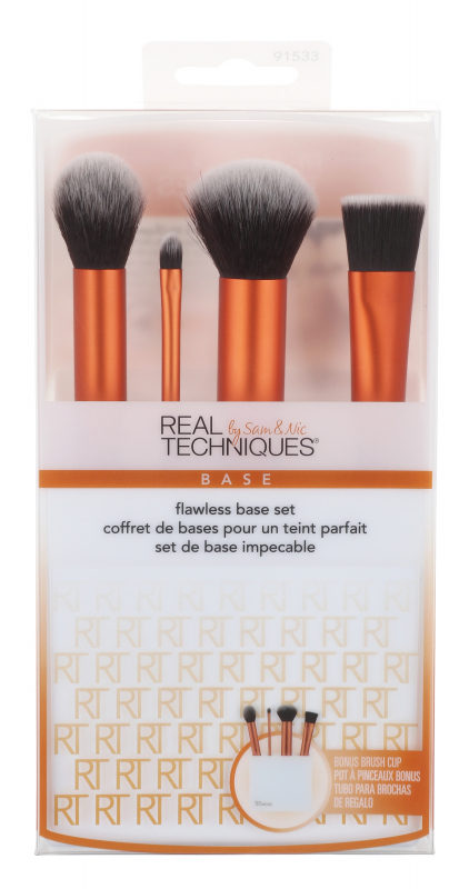 Real Techniques  FLAWLESS BASE SET  Set of 4 makeup brushes