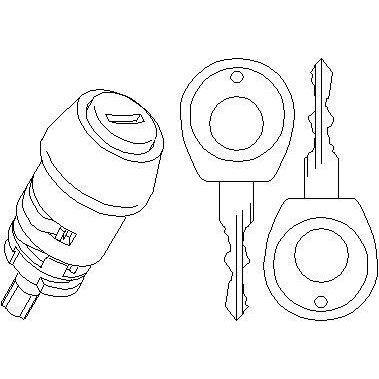 NEU + Lenkradschloß Zylinder Seat Ibiza / Cordoba 6N / 6K