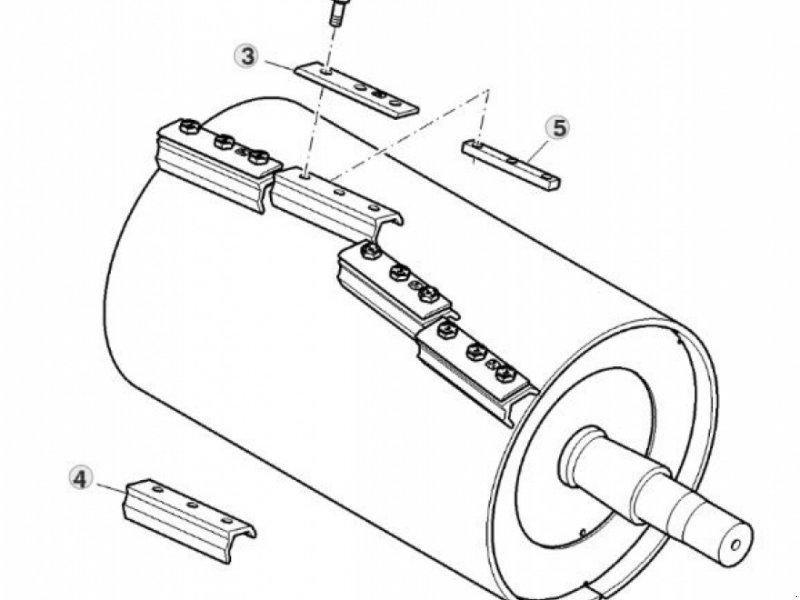 John Deere 8100-8600 Messertrommel Häcksler trommel