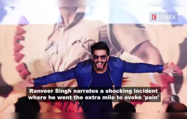 Ranveer stapled in his stomach for a scene