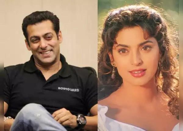 Salman Khan and Juhi Chawla