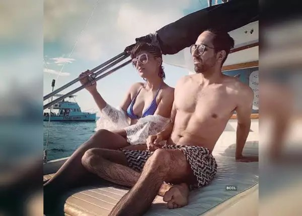 Ayushman and Tahira seen in swimwear in Bahamas