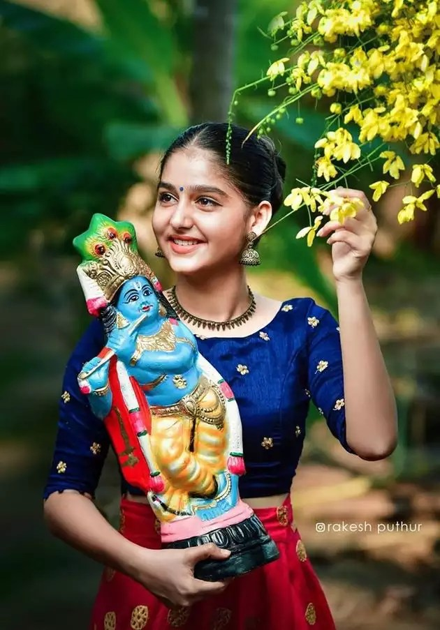 anaswara rajan latest pics: beauty immortal; Vishu Special Photos ...