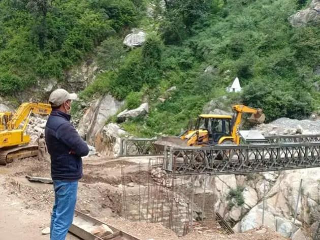 22 जून को टूटा था चीन बॉर्डर तक जाने वाला बैली ब्रिज, सेना ने 6 दिन में तैयार कर दिया