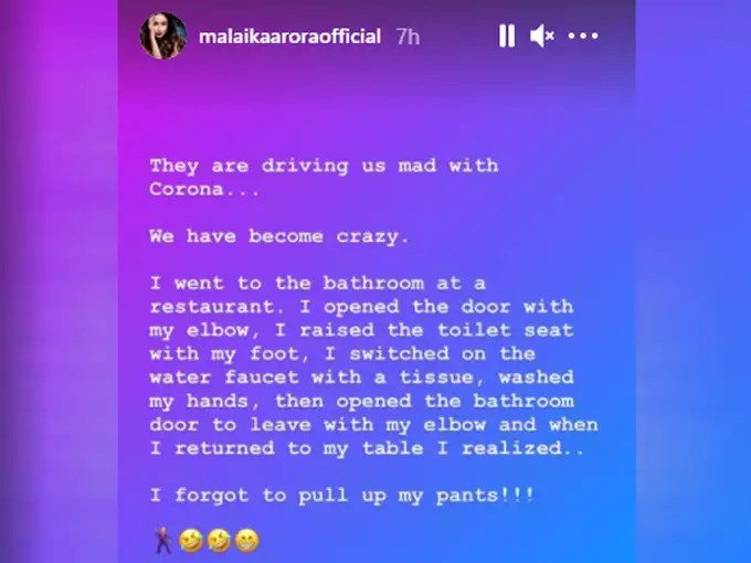 Malaika Arora Instagram Story