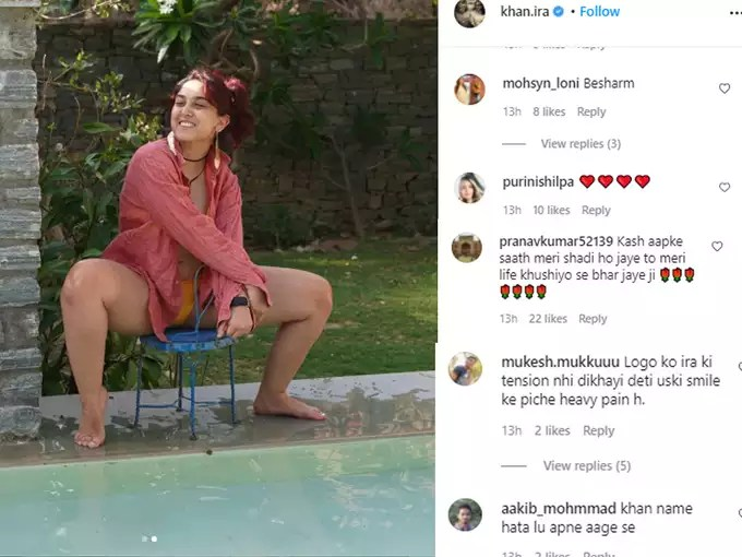 Ira Khan shares a picture of herself sitting on a small chair