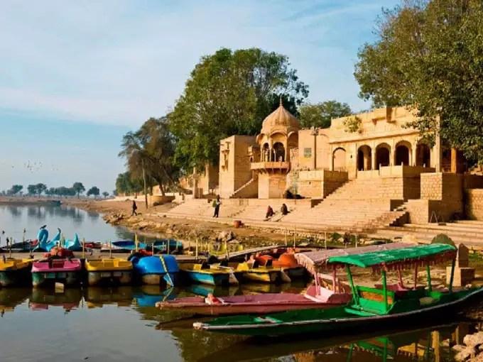 Boating in Gadisar Lake,Jaisalmer