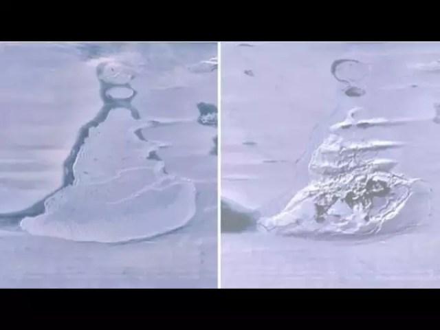 Missing lake in Antarctica