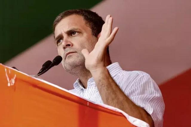 Uttar Dinajpur: Congress leader Rahul Gandhi addresses a public meeting for Ass...