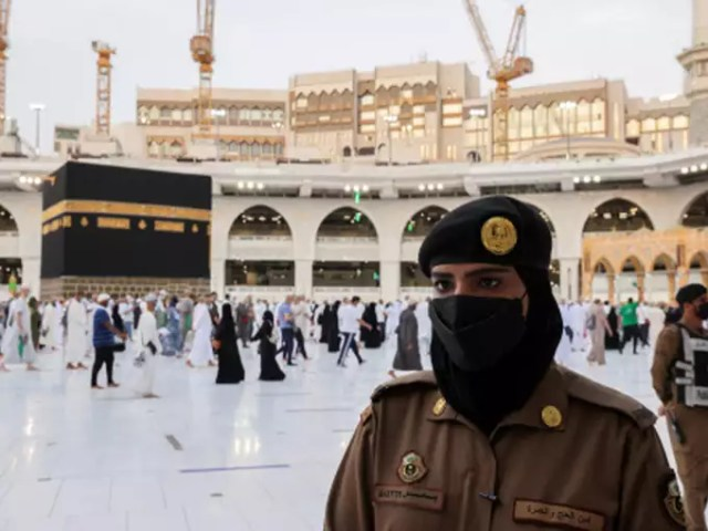 female soldiers stationed in Mecca