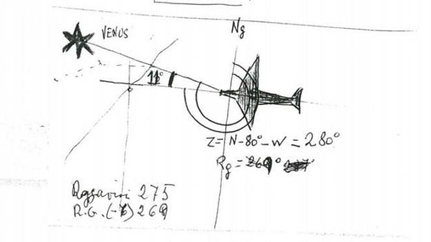 Ilustración de un posible avistamiento ovni en la Comunitat. / lp