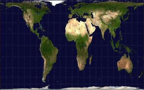 Carte du Monde de Peters