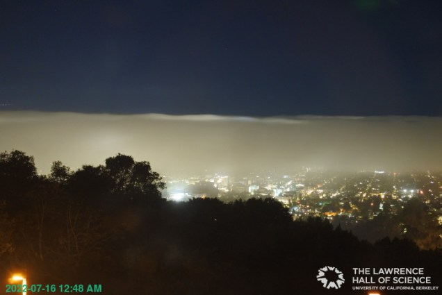 A view from The Lawrence Hall of Science, one of the local Bay Area Web Cams.