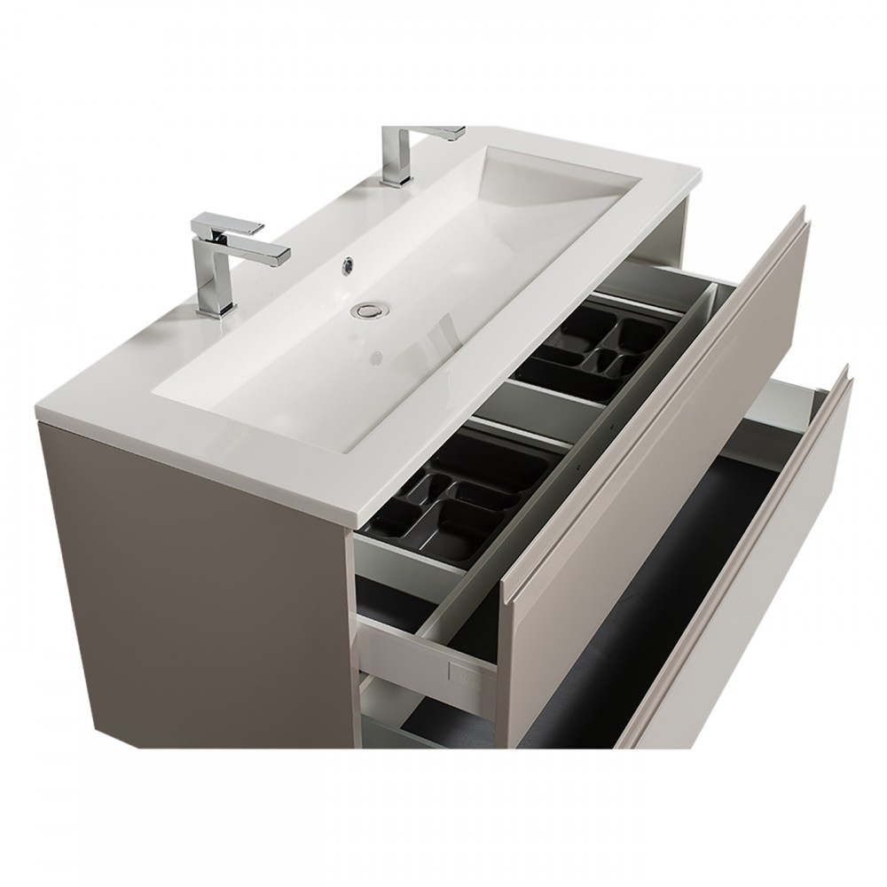 Meuble Double Vasque Reposant Adele 120 Cm 2 Finitions Bathdesign Bricozor